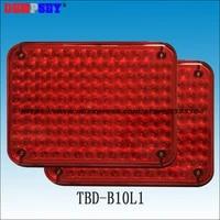 tbd b10l1 high quality warning lights for fire truckambulance carsurface mountingwaterproof dc12v or 24v redred 134 leds