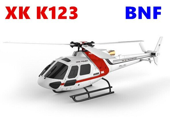 Helicóptero Original XK K123 BNF (sin control remoto), escala AS350 sin escobillas 6CH, sistema 3D6G RC, actualización WLtoys V931