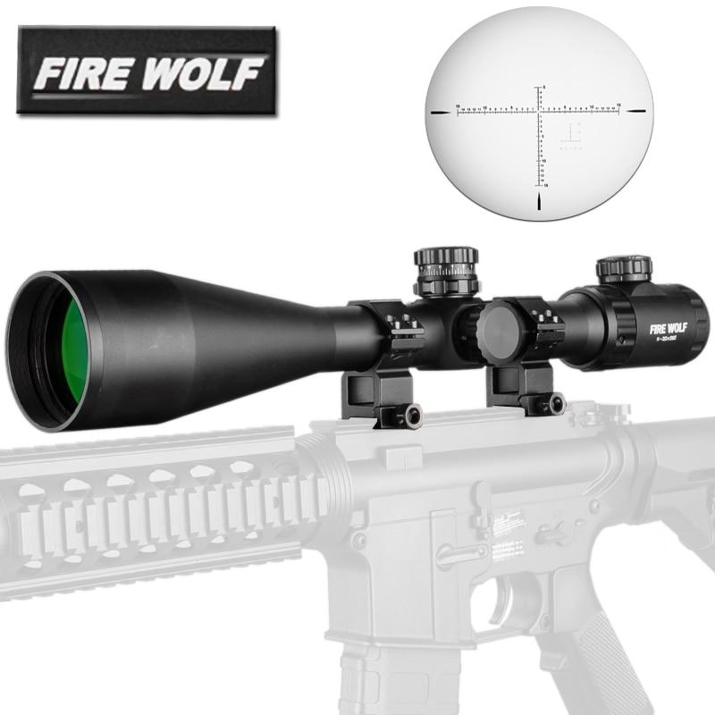 Tactics 8-32X56 E Rifle Scope Side Optics Focus negro mate para caza y uso al aire libre Rifle telescopio francotirador