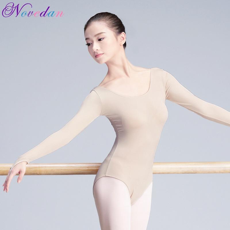 Women Adult Ballet Bodysuit Long Sleeve Ballet Dancer Costumes Gymnastic For Adult Dance Class Ballerina Underwear Dancewear