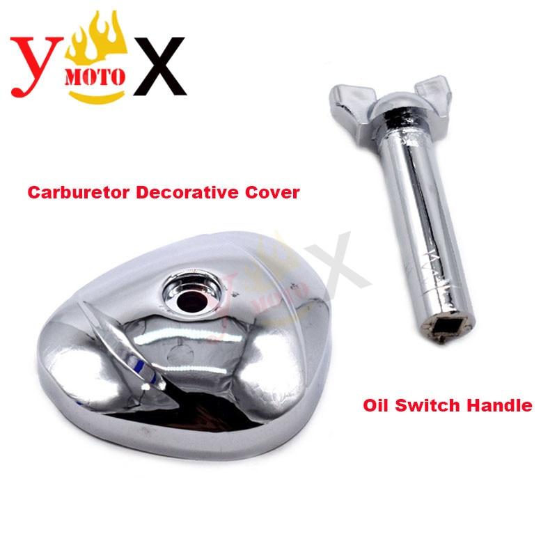 Tapa Protectora decorativa de carburador ABS cromado para motocicleta y mango de interruptor de aceite de combustible para Honda Steed 400/600 VLX400 VLX600