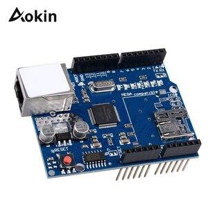 1pcs Shield Ethernet Shield W5100 R3 UNO Mega 2560 1280 328 UNR R3 W5100 Development board for arduino