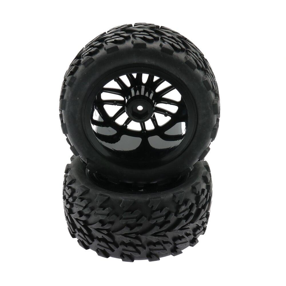 RCAWD rueda con llanta/Juego de 2 unids/set 14 radios 110 Nylon Big Foot Monster Truck 115mm juguetes modelo coche S88014 S88015 S88016