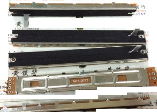 5 unids/lote SC1009G 100 carrera dual fader potenciómetro B10K longitud 15MMC