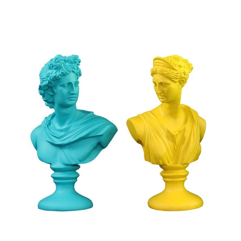 Afrodita, arte figurativo, escultura de diosa Venus, estatuas de busto, arte de resina y artesanía, accesorios de decoración para el hogar para la sala de estar R931