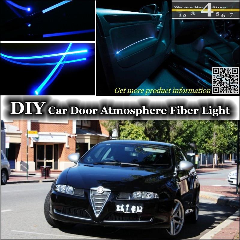 Для Alfa Romeo GT AR внутренний окружающий свет тюнинг атмосфера волоконно-оптический ленточный свет внутри Дверная панель подсветка для настрой...