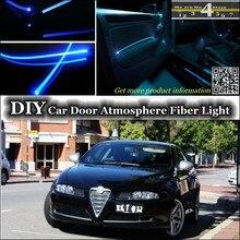 Éclairage du panneau de porte intérieure   Pour Alfa Romeo GT AR intérieur, lumière ambiante, réglage atmosphère Fiber optique, éclairage du bracelet de porte intérieure