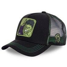 Superhero HULK Snapback Cap Cotton Baseball Cap Men Women Hip Hop Dad Hat Trucker Mesh Hat Dropshipp