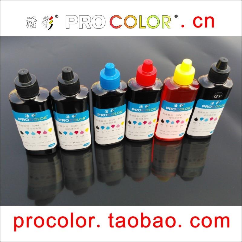 6 цветов PGI570 570 пигментные чернила 571 CLI-571 чернил GY для заправки чернил для принтера Canon PIXMA MG7750 MG7751 MG 7750 MG7752 MG7753