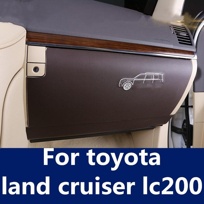 Pegatinas de diseño para coche, caja de almacenamiento para piloto, alfombrilla de protección contra patadas, accesorios de decoración para toyota land cruiser lc200