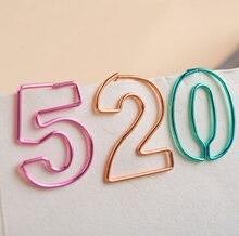 Metall Digitale lesezeichen clips überzug multicolor anzahl papier clips 0-9 10 zahlen schreibwaren hochwertige Förmigen Papier Clip