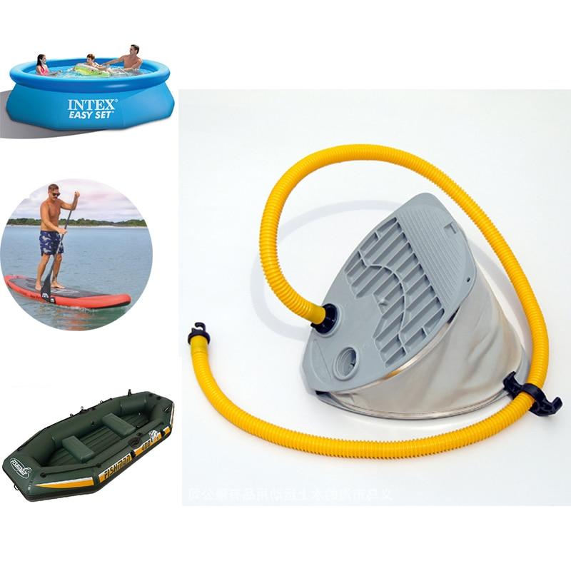 6.5L super big volume foot pump air inflatable kayak boat fishing sup board paddle surfboard high pressure deflation C72003