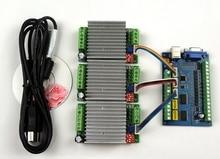 MACH3 USB CNC 5 Achsen 100 KHz Glatt Stepper Motion Control karte breakout board + 3 stücke TB6600 1 Achse 4.5A Stepper Motor Driver board