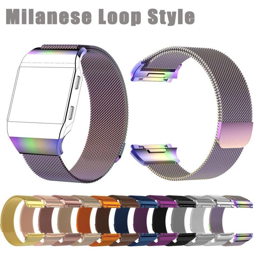 Correa de repuesto de acero inoxidable Milanese Loop para Fitbit Ionic drop shipping 1018