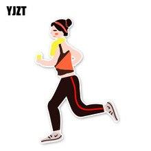 YJZT 14.1*9.3CM Interesting Running Fitness Movement Accessories Car Sticker Bumper 11A1804
