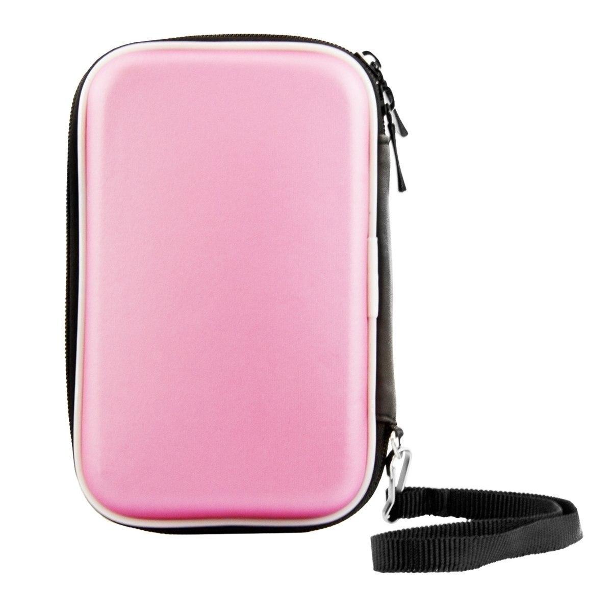 """Yoc-carry caso capa bolsa saco para 2.5 """"usb disco rígido externo proteger rosa"""