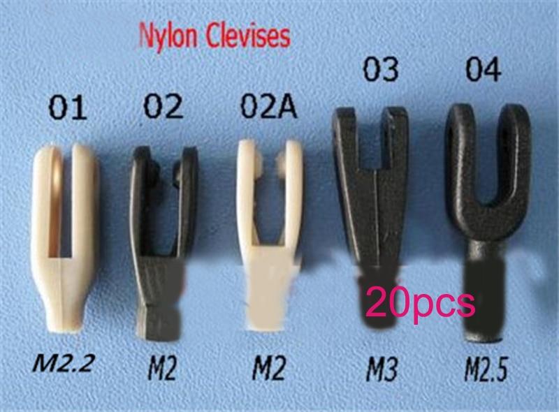 20PCS DIY Model Accessories M2/M2.2/M2.5/M3 Rod Collet Nylon Clevis Coupler Black/Gray Pull Rod Chuck U-clamp for RC Boat Model