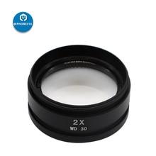 WD30 WD165 0.5X 0.7X 1.0X 2.0X objectifs auxiliaires assistés lentille Barlow pour lentille dobjectifs auxiliaires de Microscope stéréo