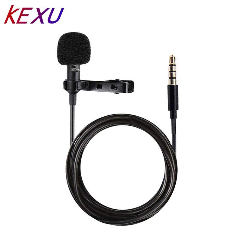 Micrófono de conferencia condensador omnidireccional con Clip de solapa YALI para teléfonos móviles