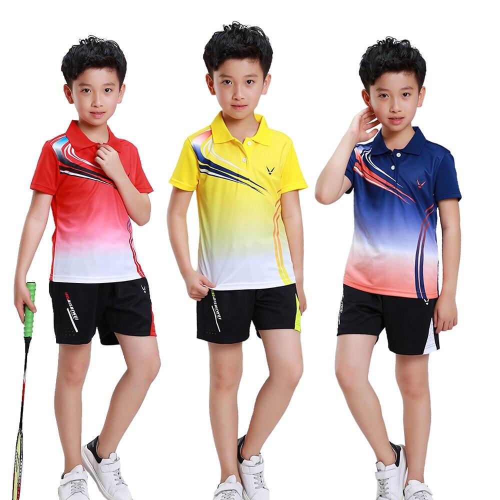 Детская быстросохнущая футболка для бадминтона Adsmoney одежда школьных командных