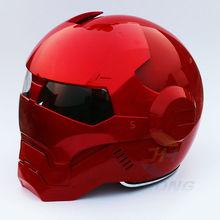 Casque demi-casque de moto   Rouge vif, casque de moto, irman Iron Man, casque demi-casque ouvert, casque de moto, 2016