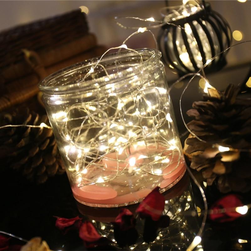 Guirnalda de luces LED de árbol de Navidad de 30 ledes de 3 M, luces de hadas de alambre de cobre para decoración de fiestas, bodas, mesas para el hogar, decoración de Navidad