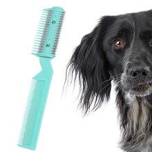 Tondeuse pour animaux de compagnie   Outil de toilettage avec peigne et 2 rasoir pour chien de compagnie, tondeuse à poils de chien à découper