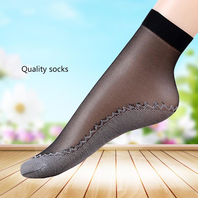 fishnet ankle socks 5pair Summer Sexy Ultrathin Crystal Silk Socks For Women High Elastic Fishnet Nylon Mesh Ankle Socks Female Chausettes