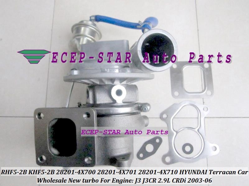 Turbo RHF5 KHF5-2B 28201-4X700 28201-4X701 28201-4X710 282014X700 282014X701 282014X710 para HYUNDAI Terracan 03-J3CR J3 CR 2.9L