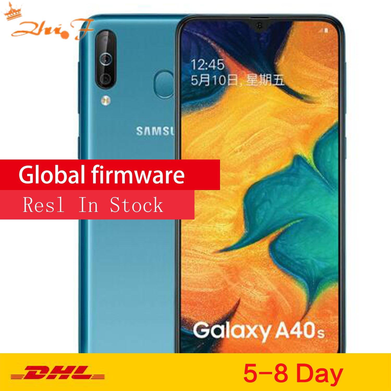 Перейти на Алиэкспресс и купить Samsung Galaxy A40s 4 аппарат не привязан к оператору сотовой связи Android смартфон 6,4 дюймов Octa Core 6 Гб 64 Гб 5000 мА/ч, супер-быстрая зарядка с распознавани...