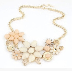 Multicolor Stones Vintage Clavicle Necklace Luxury Gold Color Chain Necklaces Women Mujer Statement Necklaces & Pendants N1154  - buy with discount