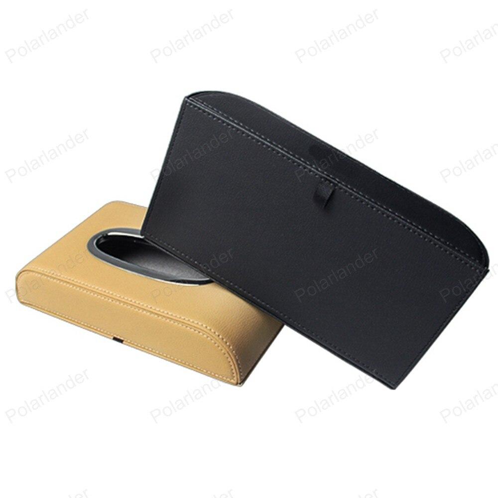 Durable 5 Cores à moda Elegante de Couro Suporte de Toalha de Papel de Escritório Em Casa para A/udi A3 A4L A6L A8 Q3 Q5 Q7 caixa Do Tecido Carro caixa