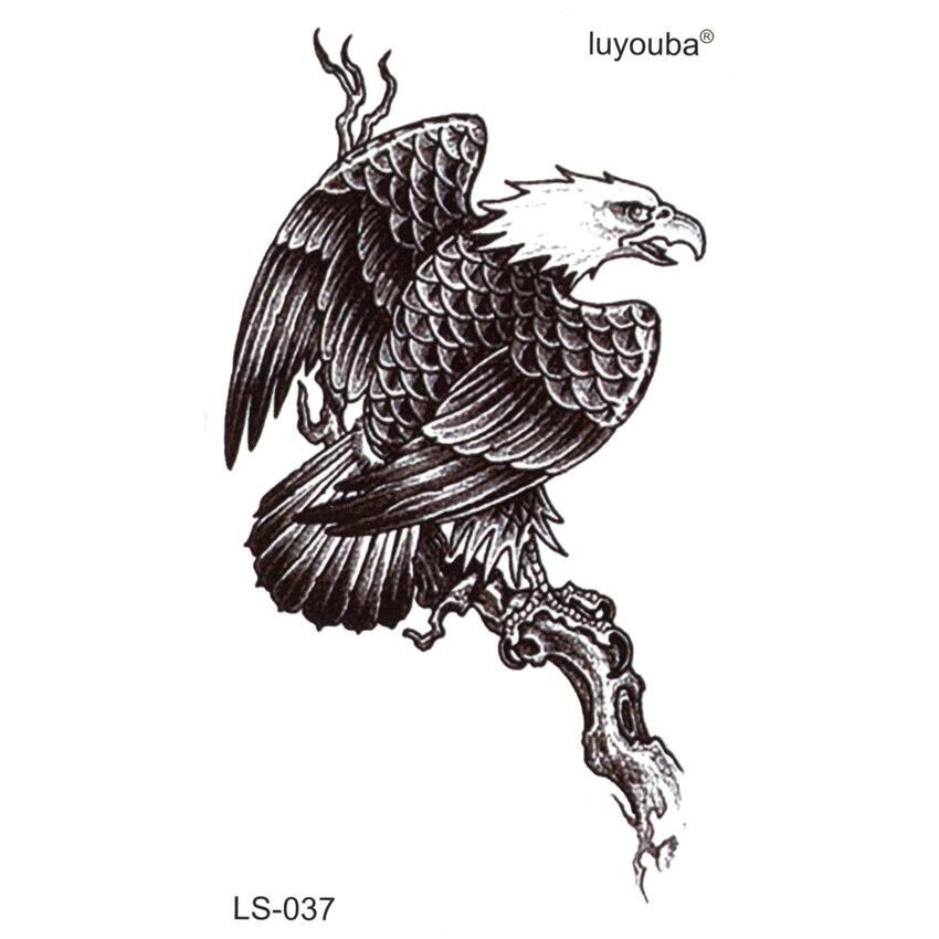 50 piezas águila en el árbol impermeable tatuaje temporal etiqueta engomada del tatuaje temporal pegatinas Cuerpo Femenino tatuaje falso