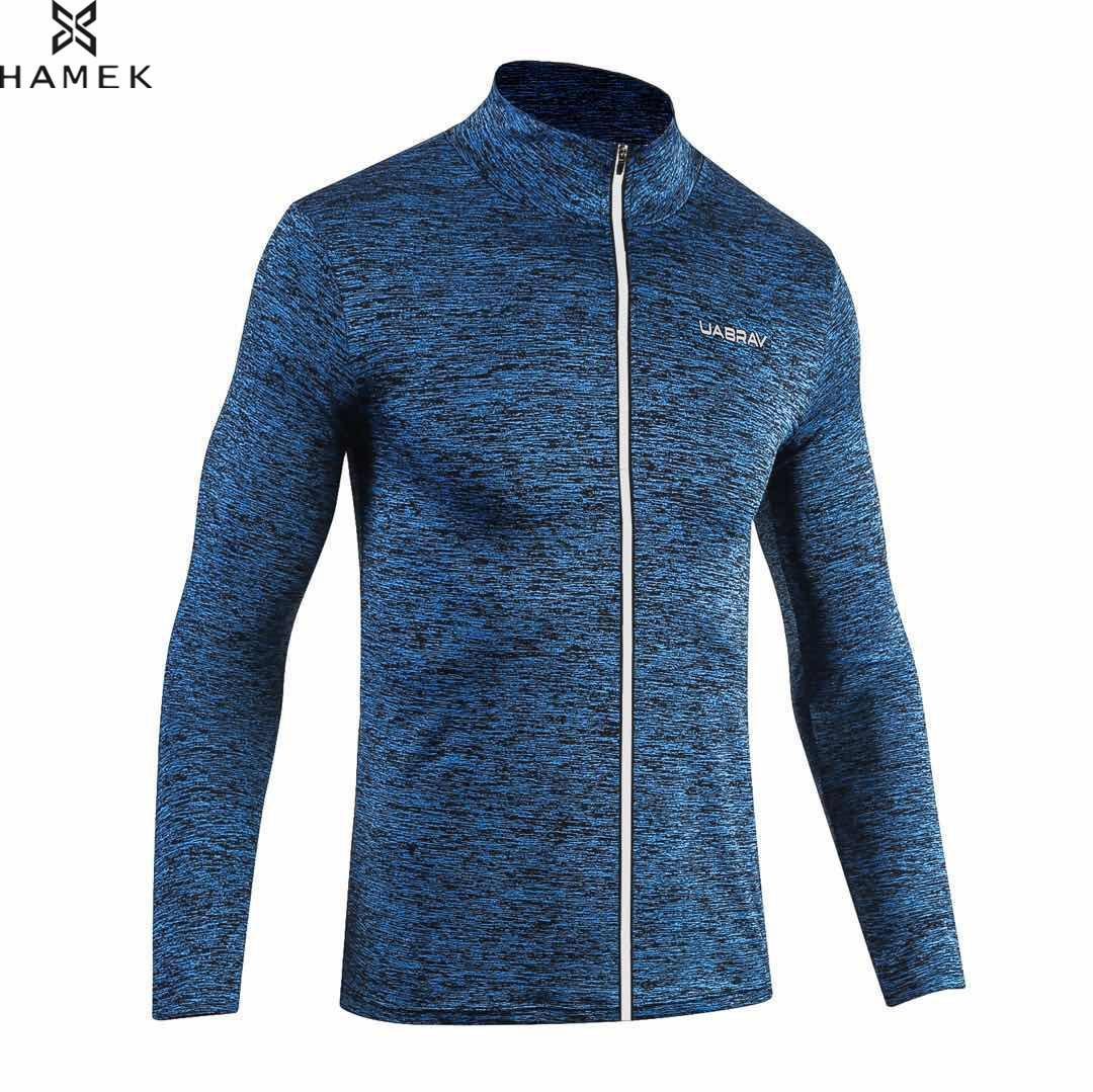 Chaqueta deportiva para hombre primavera Otoño, chaqueta deportiva reflectante con cremallera, camisetas de manga larga de baloncesto elásticas