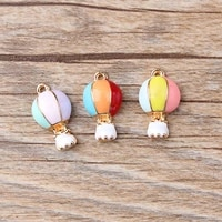 20pcslot fashion jewelry hot air balloon oil drop charms alloy pendant fit necklaces bracelets diy jewelry accessories