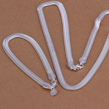 Prix usine top qualité 925 bijoux argent plaqué bijoux ensembles argent plaqué collier bracelet livraison gratuite SMTS084