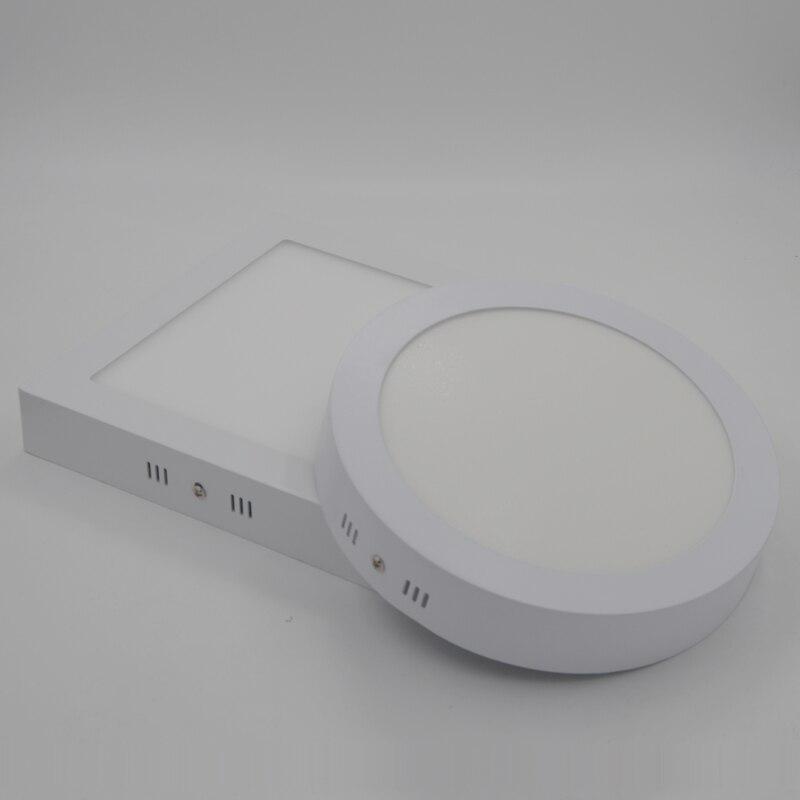 Não-pode ser escurecido 6 w 12 w 18 w 24 w superfície redonda brilhante super conduziu o teto da parede do painel para baixo a lâmpada do bulbo da montagem da luz para o banheiro ilumina
