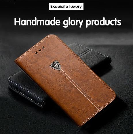 Lujosa ammyki elegante funda trasera del teléfono móvil de cuero con tapa 5,7 para Vodafone Smart Platinum 7 funda