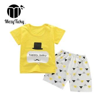 Summer Children's Cartoon T-shirt Clothes Boys Sport Short Sleeve + Shorts 2pce Toddler Baby Girls Cotton Fashion Clothing Sets