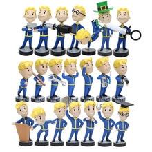 21 estilos Vault Boy serie Bobbleheads 1 2 3Vault figura PVC acción figura juegos personaje para chico juguetes regalo de Navidad