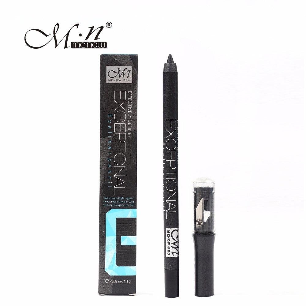36 pièces Menow Crayon Eyeliner noir avec taille-Crayon Crayon imperméable Eye Liner professionnel beauté maquillage cosmétique P14004