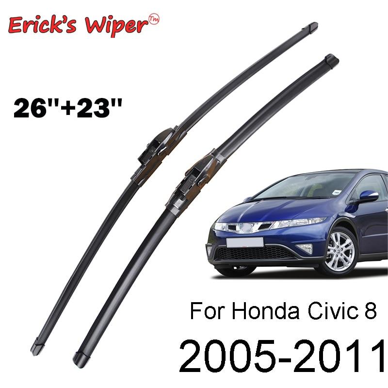 """Передние стеклоочистители Erick для Honda Civic 8, Европейский хэтчбек, лобовое стекло, лобовое стекло 26 """"и 23"""" (тип космического корабля)"""