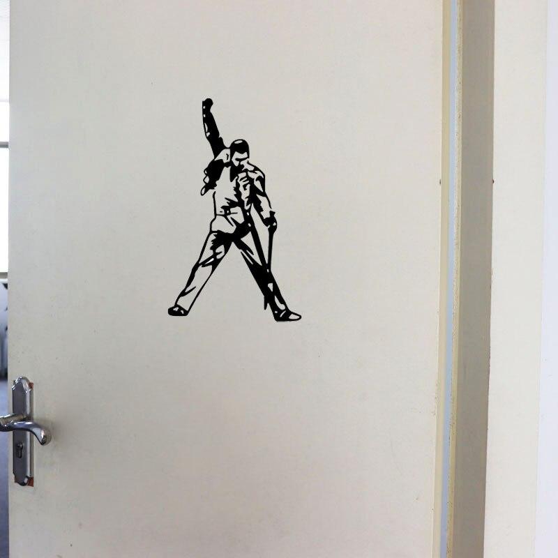 YOJA – autocollant mural Freddy Mercury, 15x25CM, décoration pour porte de chambre à coucher, D1-0152