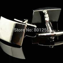 Free shipping Engravable Cuffllinks silver color square design hotsale copper material cufflinks who