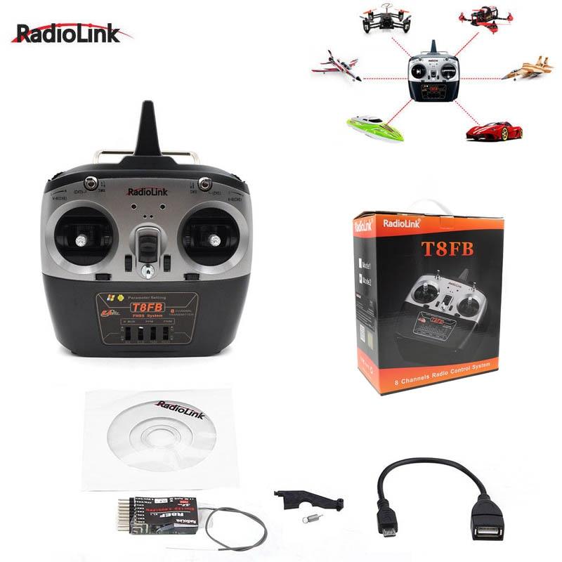 Radiolink t8fb 2.4 ghz 8ch transmissor r8ef receptor remoto rontrol tx & rx para rc helicóptero rc drones aeronaves quadcopter