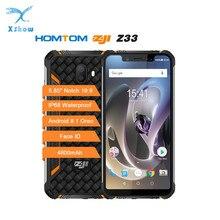 "Homtom Zoji Z33 Smartphone IP68 Waterdichte MT6739 1.3 Ghz 3 Gb 32 Gb 4600 Mah 5.85 ""Dual Sim Android 8.1 Ota Otg Gezicht Id Mobiele Telefoons"