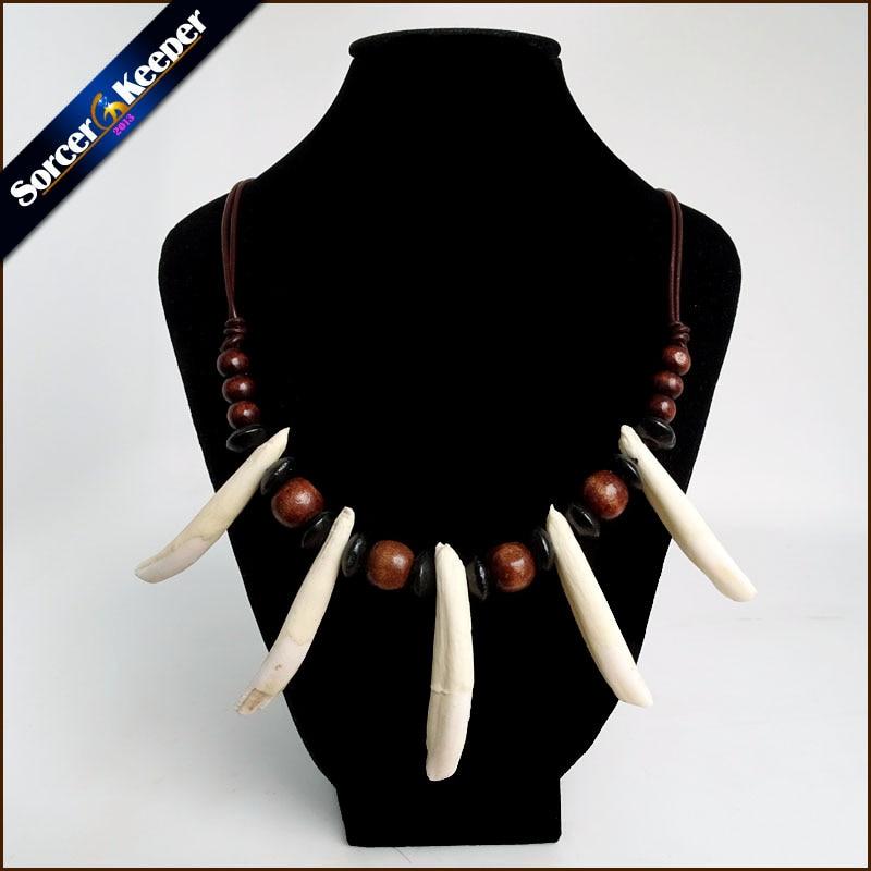 Frauen Männer Tibet Schmuck Amulett Weiß Echt Wolf Tooth Fangs Canine Knochen Carving Anhänger Surfer Leder Seil Halskette Einstellbar