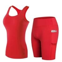 fnmm 2021 new yoga sets vestshort top female t shirt fitness clothing quick dry running short gym sport shorts pantalon corto