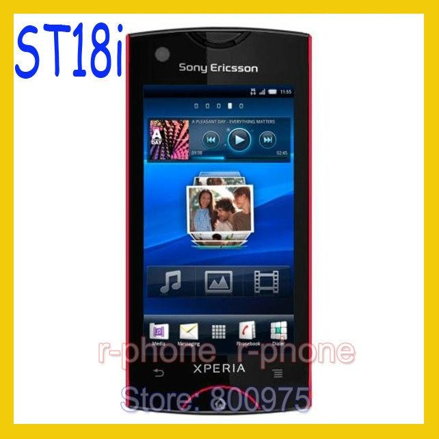 ST18i Original Sony Ericsson Xperia Ray móvil teléfono St18i rojo 8MP GSM 3G WIFI GPS Bluetooth DESBLOQUEADO y regalo