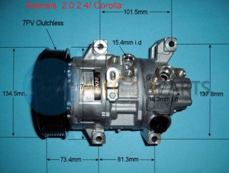 Compresseur de climatisation pour Toyota Avensis Corolla Verso 2.0 2.4 8831005090 447180-5640 447260-1741